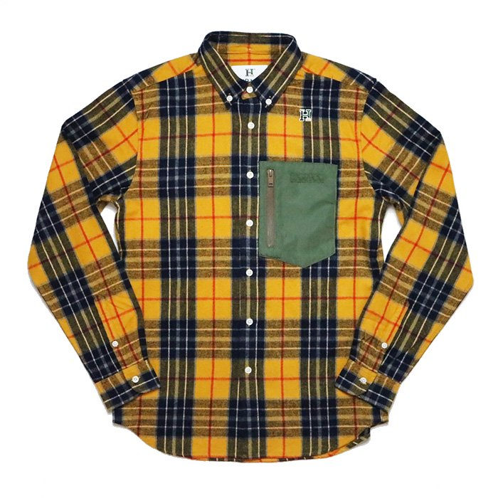 HBNS | FLANNEL OUTDOOR POCKET SHIRTS-YELLOW