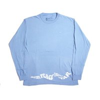 RARE PANTHER | BEFORE PEACE THERE'S WAR L/S TEE-DENIM BLUE【50%OFF】