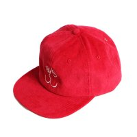 RARE PANTHER | FACE CORDUROY SNAP BACK-RED