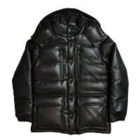 HBNS | LEATHER DOWN JACKET-BLACK