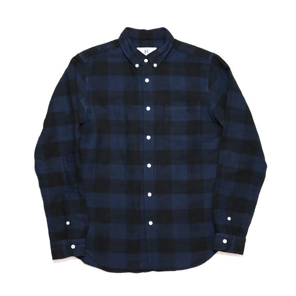 HBNS | BUFFALLO CHECK CAMO B.D SHIRTS-NAVY