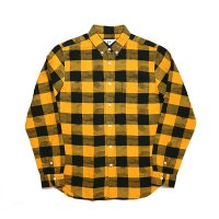 HBNS | BUFFALLO CHECK CAMO B.D SHIRTS-YELLOW