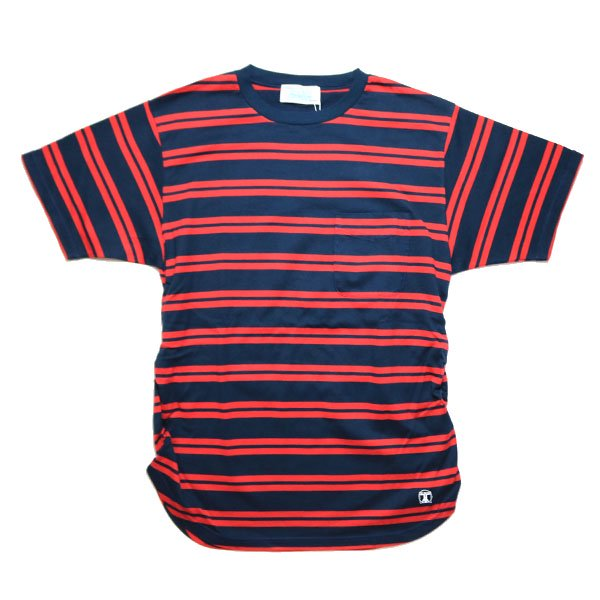 Hombre Nino | SHIRRING POCKET TEE-NAVY×RED