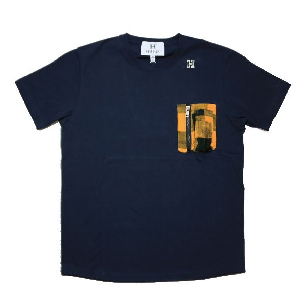 HBNS | POCKET S/SL Tee - NAVY