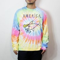 "NuGgETS / NuGgETEE  | ""AMERICA"" L/S TEE -TIEDYE-【50%OFF】"