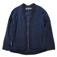 SLOWGUN&CO.  | GA Tex Cloth Zip Cardigan