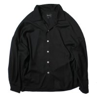 superNova. | Big Open Collar Shirt - Gabardine