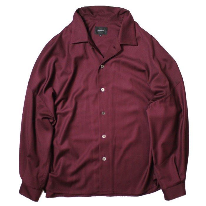 superNova. | Big Open Collar Shirt - Gabardine