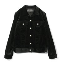 SLOWGUN | VELVET 3RD TYPE JACKET - BLACK