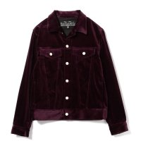 SLOWGUN | VELVET 3RD TYPE JACKET - WINE