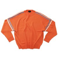 superNova. | Big line knit - Orange