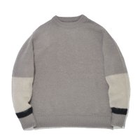SUPERTHANKS | CHANGE CREW NECK KNIT - GRAY