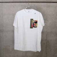 HBNS | MILITARY SCARF POCKET  S/SL Tee - WHITE(XL)