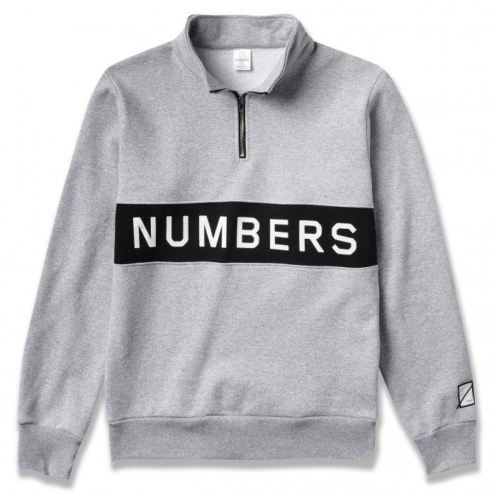 NUMBERS EDITION  | WORDMARK FLEECE QUARTER ZIP