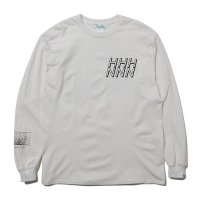 Hombre Nino | L/S PRINT TEE (STRUCTURE 1)- WHITE