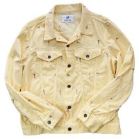 HBNS | EMB CORDUROY JACKET - YELLOW