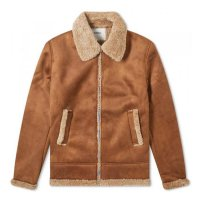 SOULLAND | SO MAX FAUX SHEARLING JACKET - BROWN