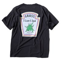 ANASOLULE | GRASS T-SHIRT - BLACK