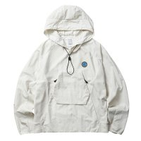 Liberaiders | OVERDYED NYLON SLEEVES HOODIE - WHITE