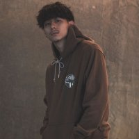 ANASOLULE | BLANK GENERATION LOGO HOODIE - BROWN