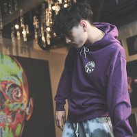 ANASOLULE | BLANK GENERATION LOGO HOODIE - PURPLE