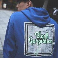 ANASOLULE | BLANK GENERATION LOGO HOODIE - BLUE