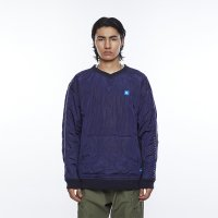 Liberaiders |QUILTED PULLOVER - NAVY