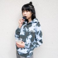 ANASOLULE | ×OREO BLACK CRACK HOODIE - TIEDYE BLACK
