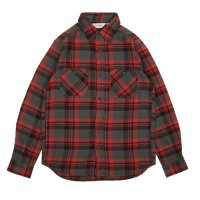 FIVE BROTHER | HEAVY FLANNEL WORK SHIRTS - RED CK