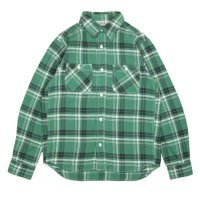 FIVE BROTHER | HEAVY FLANNEL WORK SHIRTS - GREEN CK