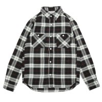 FIVE BROTHER | HEAVY FLANNEL WORK SHIRTS - BLACK CK