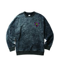 Liberaiders | ACID WASH CREWNECK - BLACK