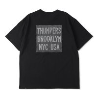 THUMPERS BROOKLYN NYC USA サンパース |  LEATHER PATCH LOGO S/S TEE - BLACK