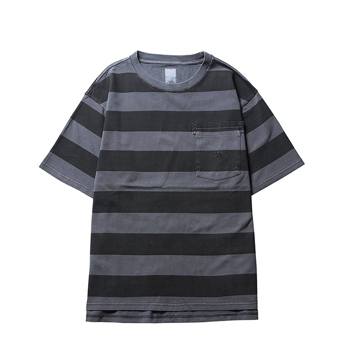 Liberaiders | OVERDYED STRIPED TEE - GRAY