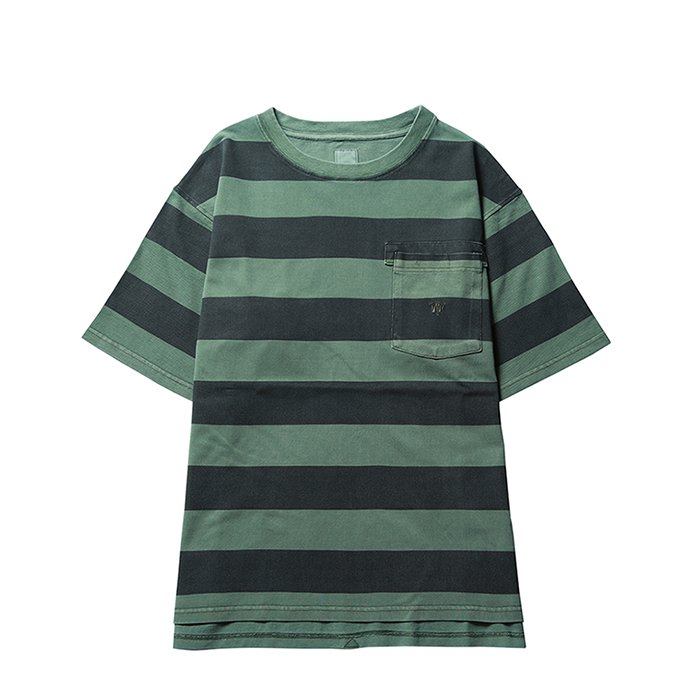Liberaiders | OVERDYED STRIPED TEE - OLIVE