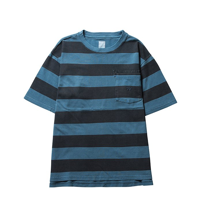 Liberaiders | OVERDYED STRIPED TEE - BLUE