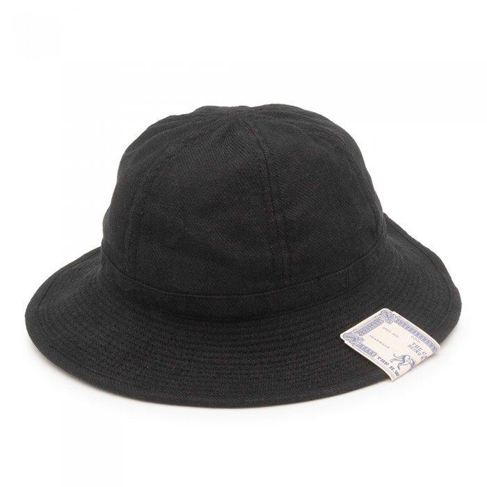 THE H.W. DOG&CO. | LINEN F HAT D-00526 - BLACK