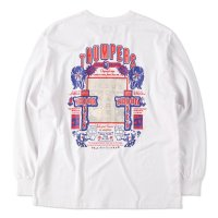 THUMPERS BROOKLYN NYC USA サンパース |  JESUS SCARES L/S TEE - WHITE