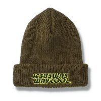 THUMPERS BROOKLYN NYC USA サンパース | JESUS SCARES BEANIE - OLIVE
