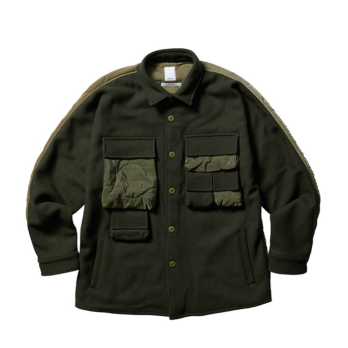Liberaiders リベレイダース | QUILTED UTILITY SHIRT - OLIVE