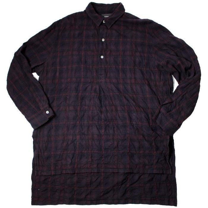 superNova. スーパーノヴァHalf button Long shirts - Bargandy