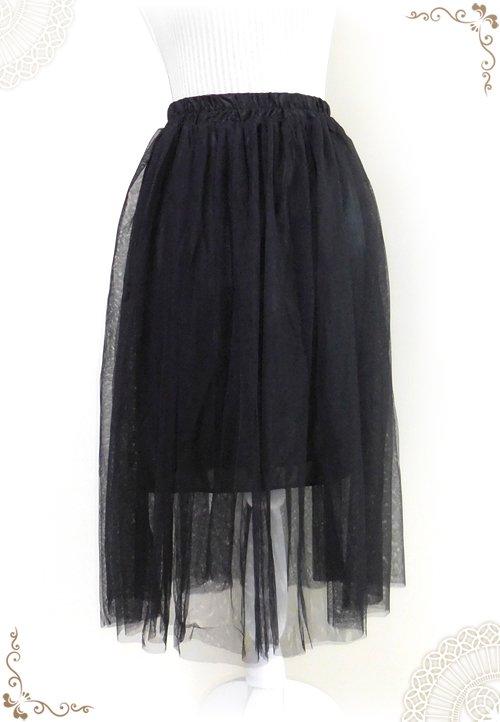 黒いチュールスカート(単品注文不可) petti-06